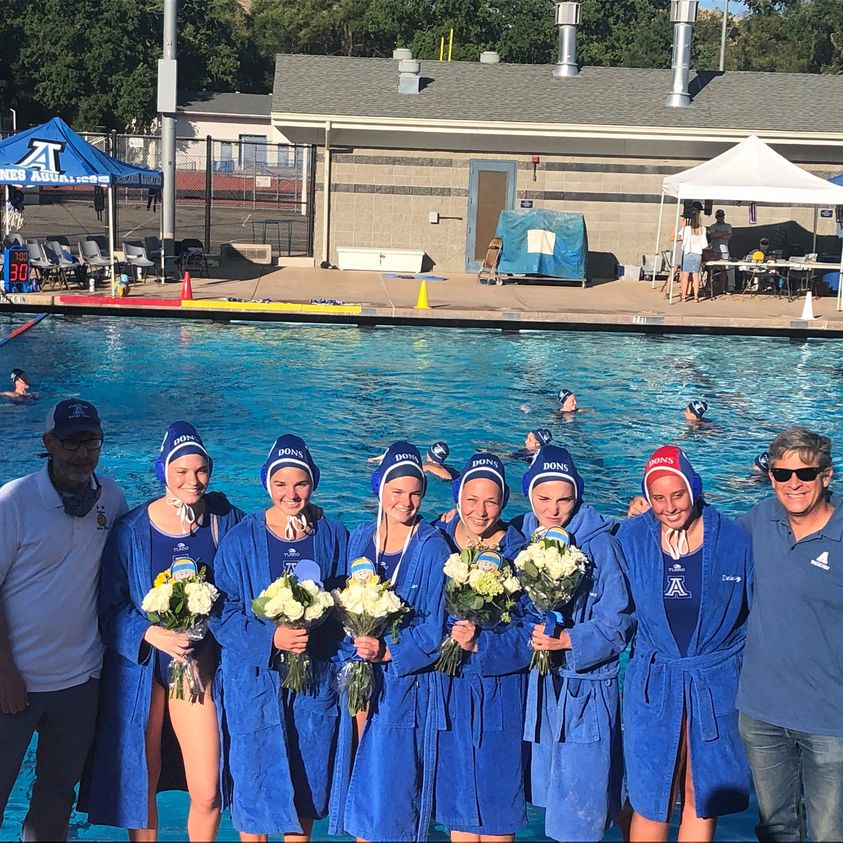 Special Senior Night for Lady Dons Water Polo With 14-7 Win Over Las Lomas