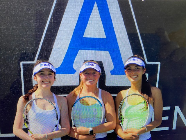 SENIOR DAY FOR GIRLS TENNIS TODAY 3:15 PM  HOME MATCH VS CAMPO