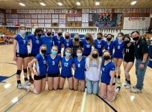 JV Girls Volleyball Plays Another Tight Match Against Campo