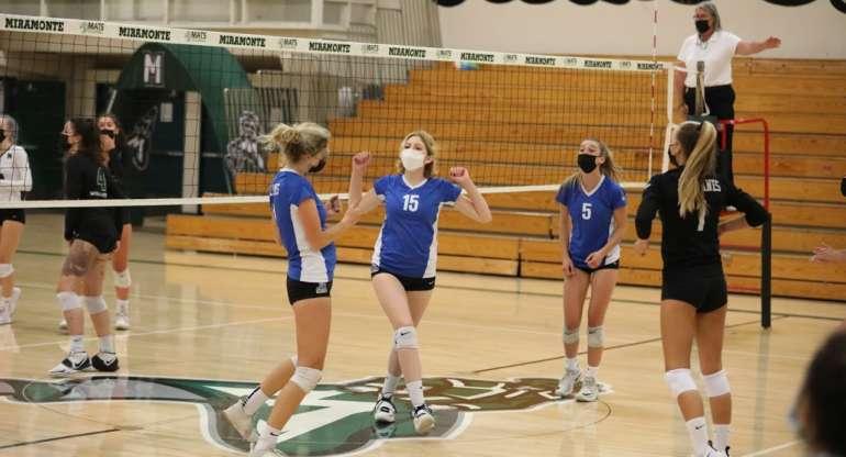 Girls Varsity Volleyball Stomps the Mats