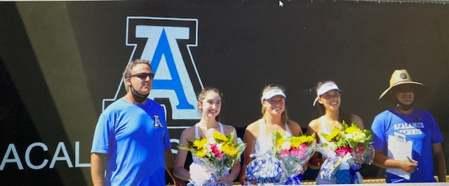 GIRLS TENNIS BEATS CAMPO 5-4 ON SENIOR DAY !       WAY TO GO DONS!