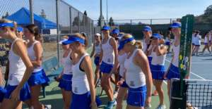 GIRLS TENNIS DONS GET REMATCH VICTORY OVER LAS LOMAS KNIGHTS