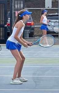 GIRLS TENNIS LOSES TOUGH ONE TO COUGARS   SENIOR DAY THURSDAY!