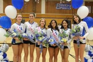 Dons Varsity Volleyball Wins on Senior Night