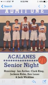 Dons Win on Senior Night