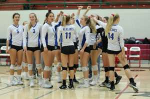 Dons Varsity Volleyball Drives 580 Miles To Chop Down the Eureka Loggers in NCS First Round 3-0