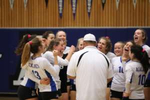 Dons Varsity Volleyball Keeps Rolling in NCS With a 5-Set Come From Behind Win Over San Marin