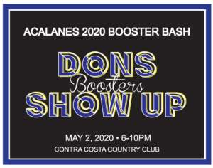 Save the Date - Booster Bash May 2, 2020 at Contra Costa CC!