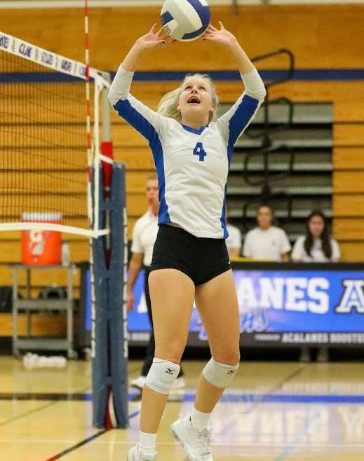 Dons Varsity Volleyball Ropes the Broncos